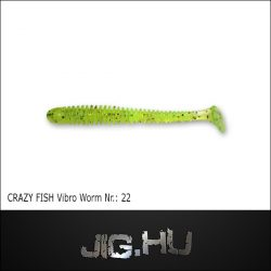 CRAZY FISH VIBRO WORM 3' (76MM) NR.:22