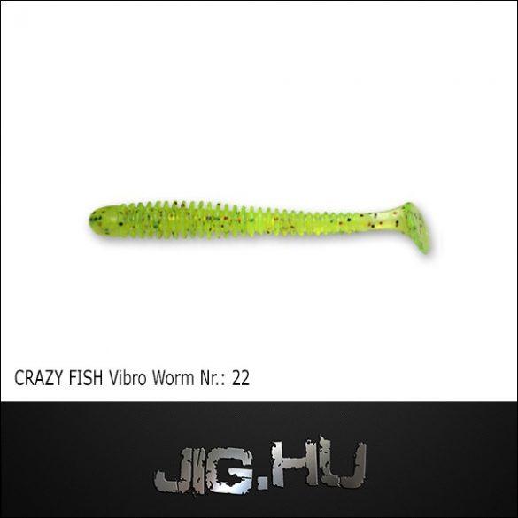 CRAZY FISH VIBRO WORM 3' (76MM) NR.:22
