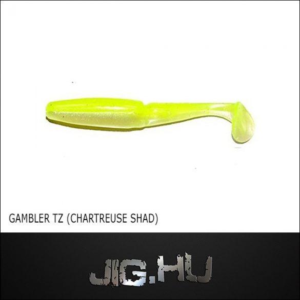 """Gambler TZ Swimmer 3"""" (chartreuse shad) No.: 130"""