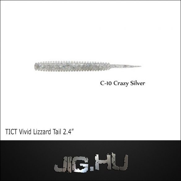 "TICT VIVID LIZZARD TAIL 2'4""  C-10 (Crasi Silverl)"