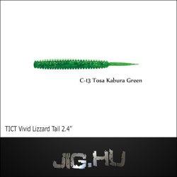 "TICT VIVID LIZZARD TAIL 2'4""  C-13 (Tosa Kabura Green)"