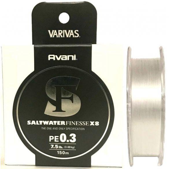 Fonott zsinór VARIVAS AVANI SALTWATER FINESSE X8  PE 0.2 Fehér /0,074MM/ 2.54KG /150M