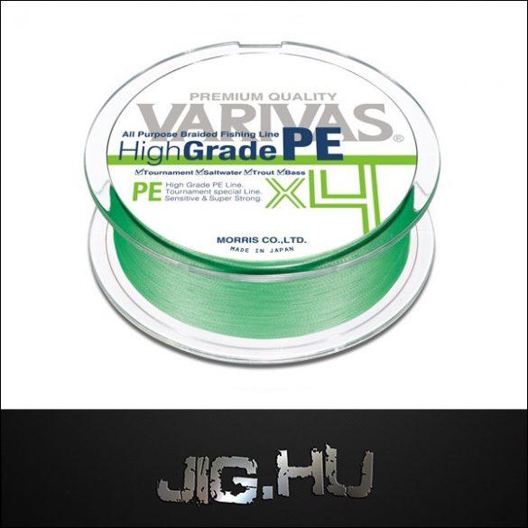 Fonott zsinór Varivas High Grade PE X4 Flash Green #0.8  150m 15LB