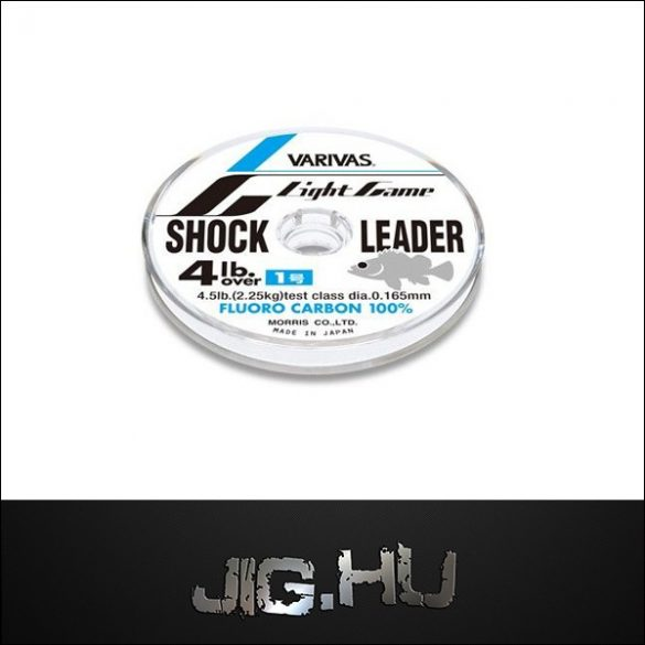Fluorcarbon zsinór Varivas Light Game Shock Leader #0,8  /3lb. / 0.148mm / 1,75kg /