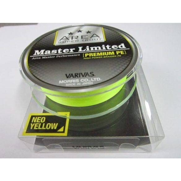 Fonott zsinór Varivas Master Limited Premium 0.2  Yellow /0,074mm/ 2.7kg /75m