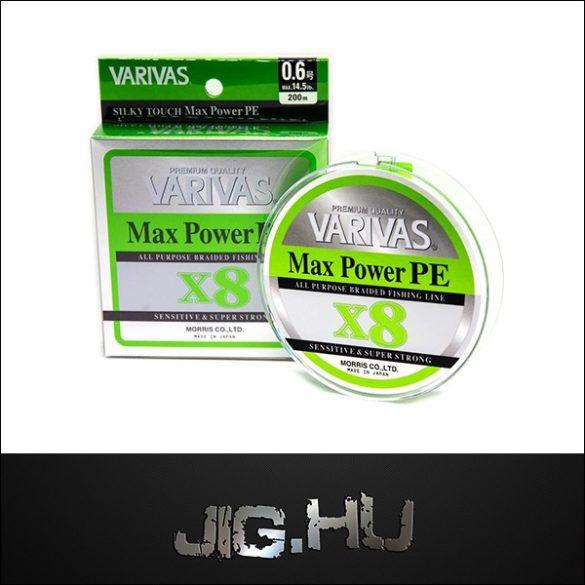 Fonott Zsinór VARIVAS MAX POWER PE X8 #0.6 /14,5LB/ 0.128mm/ 150m