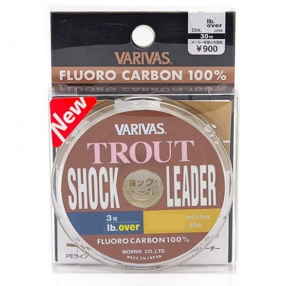 Fluorcarbon zsinór Varivas Trout Shock Leader /6lb / 3,25kg / 0,205mm